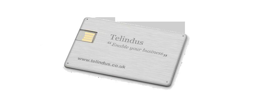 USB creditcard metaal