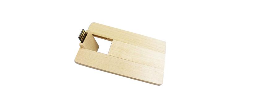 USB creditcard hout