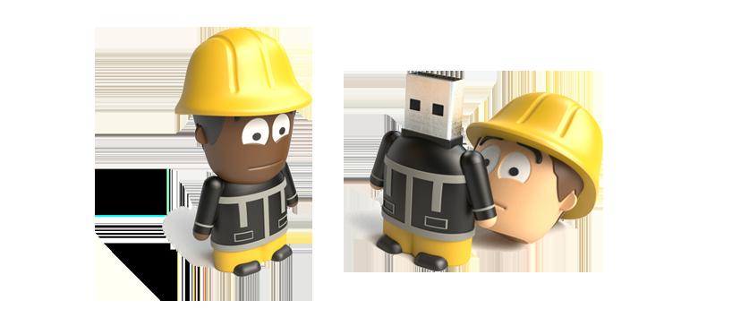 USB Character Fireman