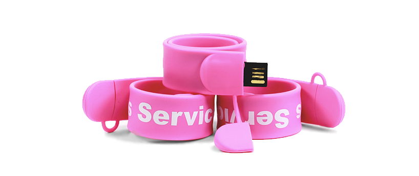 USB Rubber snap wristband