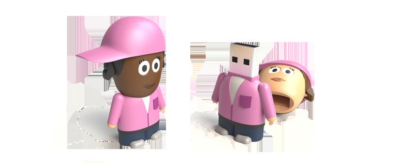 USB Character Street