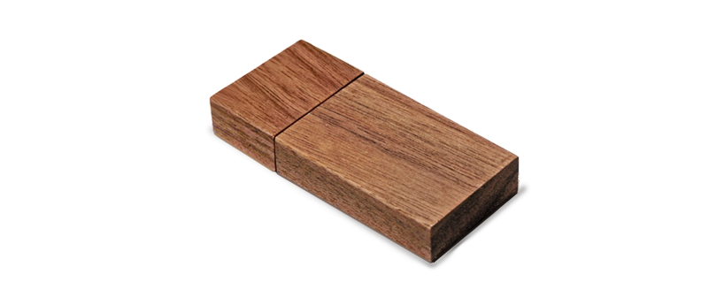 USB Hout Walnut