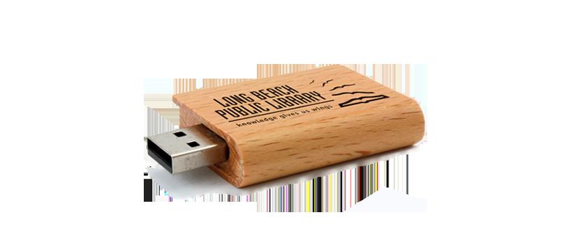 USB Hout Boek